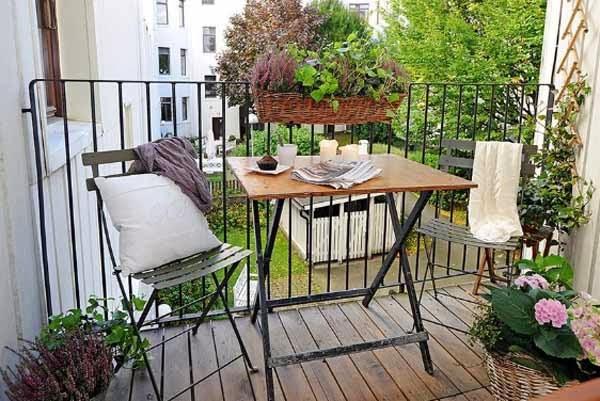 Decoraci n de terraza en espacio peque o colores en casa - Decoracion terraza pequena ...