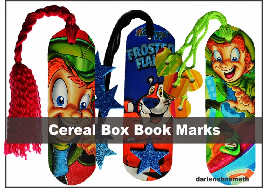 cereal box book marks