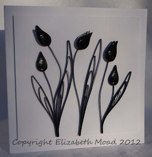Black quilled flowers