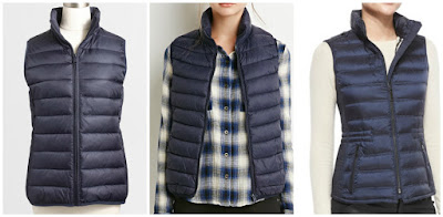Here are three similar looking puffer vests from Forever 21, J. Crew Factory, and Burberry with very different prices. Can you guess which one is the least, middle, and most expensive? Click the links below to see if you are correct!