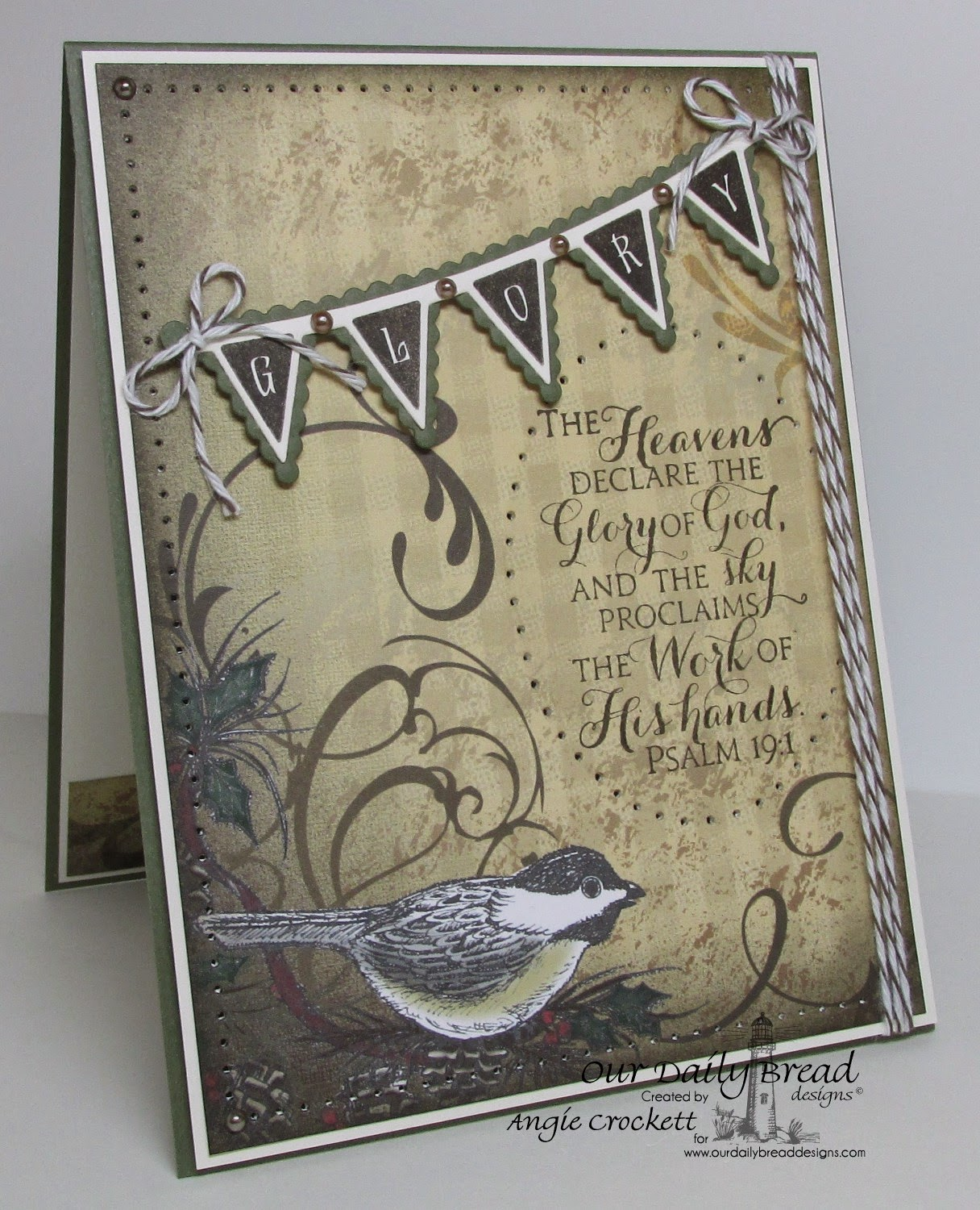 ODBD Scripture Collection 9, Christmas Pennant Row, ODBD Custom Pennant Row Dies, Christmas Designer Paper Collection, Card Designer Angie Crockett