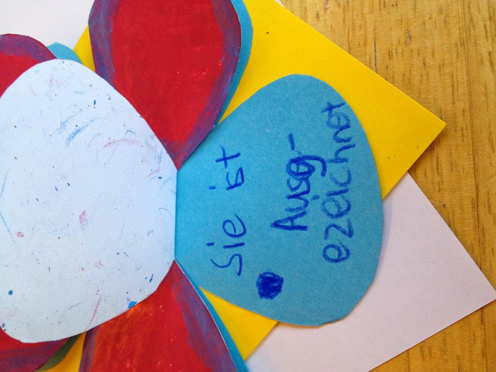 Klassenkunst geschenk zum muttertag karte for Muttertagsgeschenk grundschule