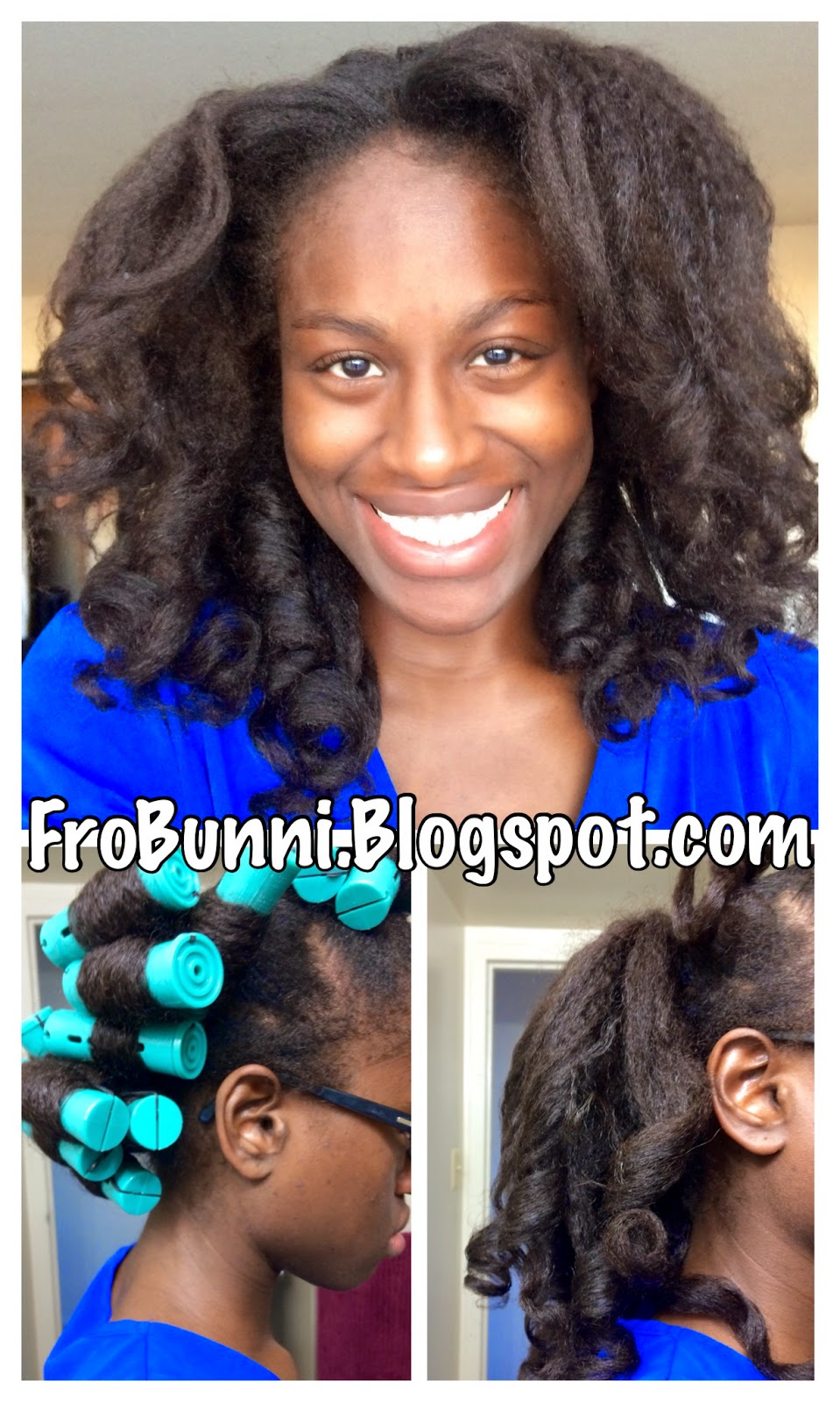 Ponytail Perm Rod Set on Natural Hair