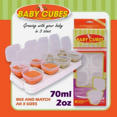 baby cubes food storage