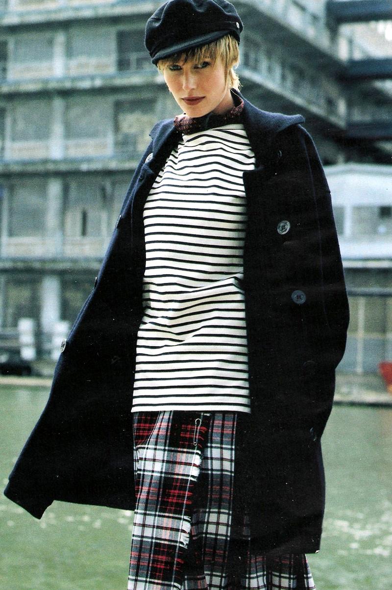 Breton top / how to style breton top / story of breton stripes / Elle France September 1993 via fashioned by love british fashion blog
