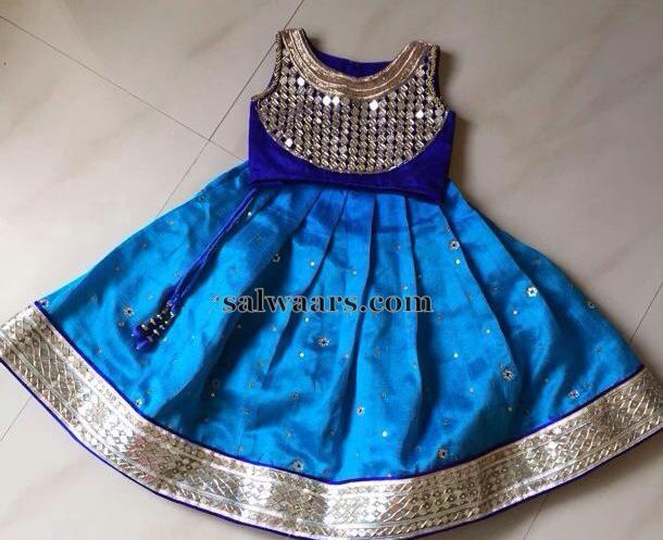 mirror blouse kids lehenga indian dresses
