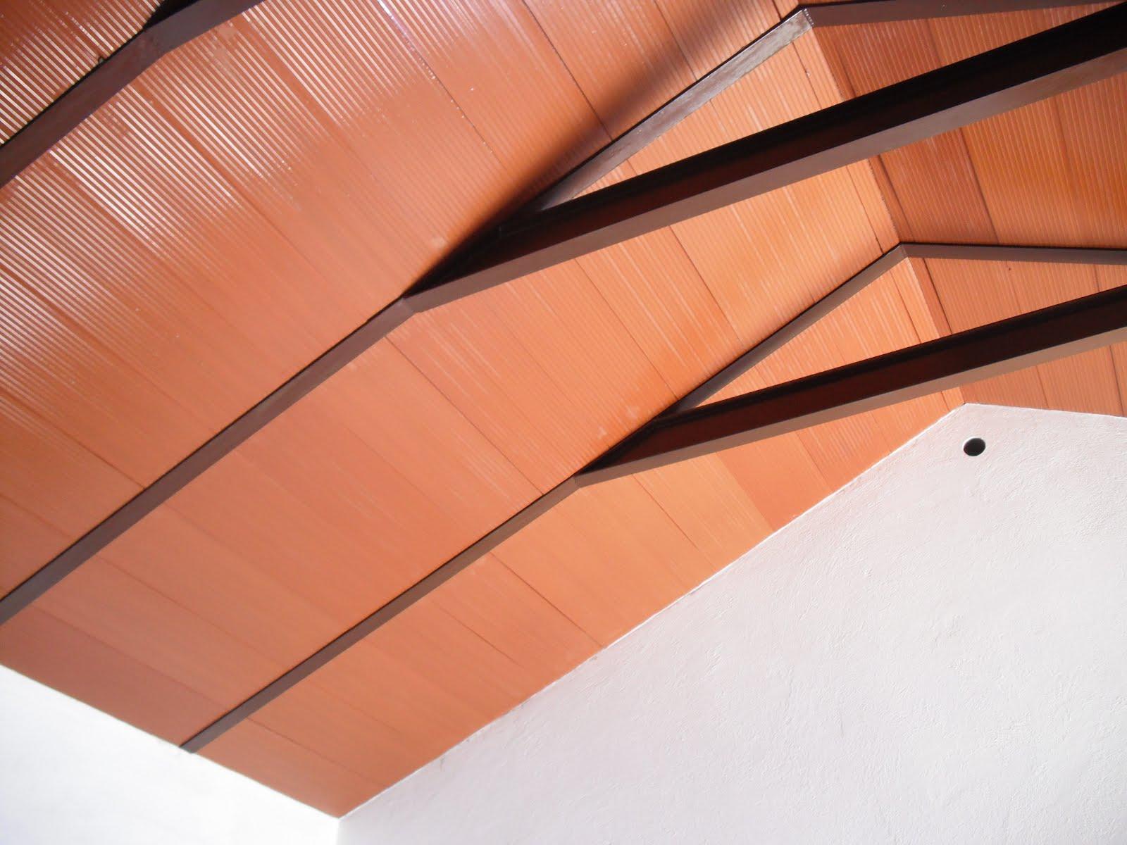 Encalarte aplicaciones decorativas techo de rasillones - Como pintar un techo ...