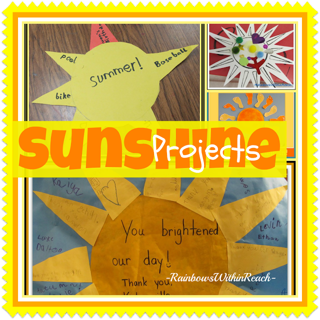 photo of: Sunshine Art Projects: collage of ideas for summer-time fun!!
