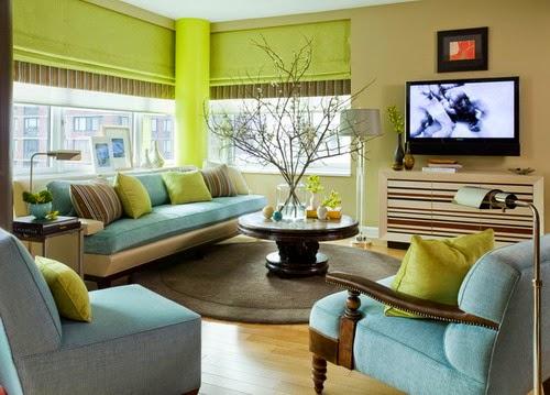 gambar interior rumah minimalis warna hijau