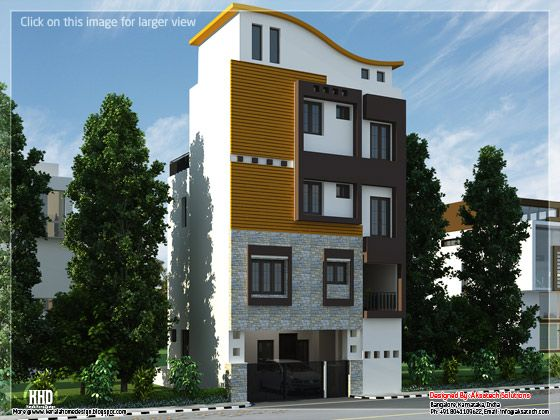October 2012 kerala home design and floor plans for 3 storey house designs in india