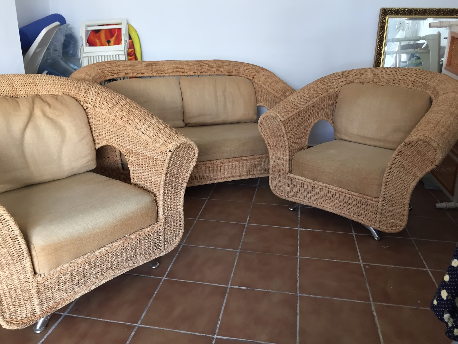 Digame For Sale Wicker Sofa & Chairs