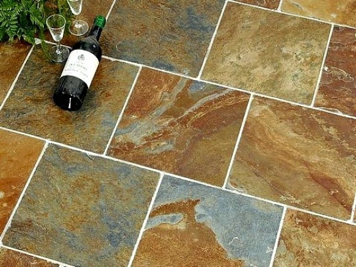 Wall tile on floor