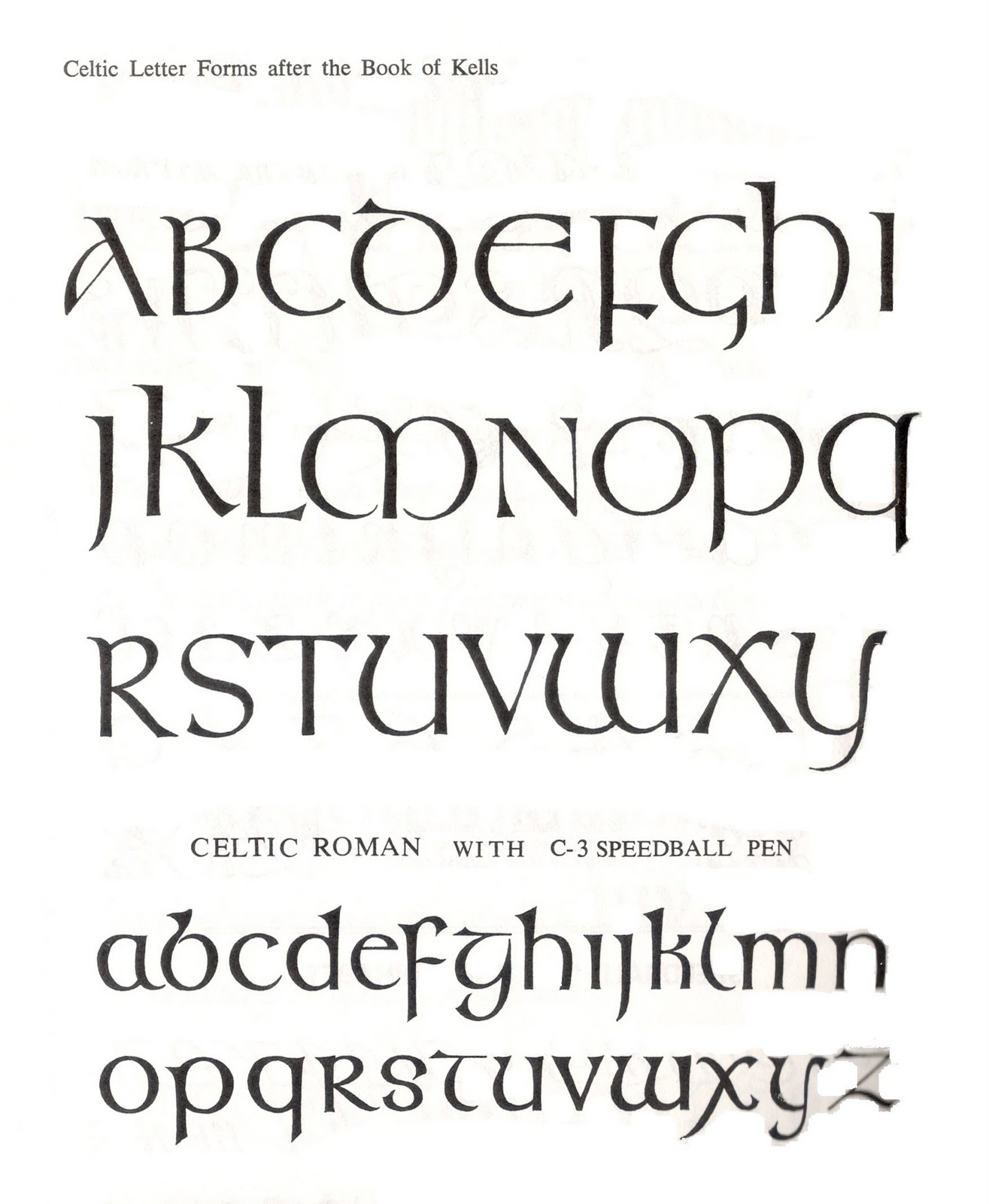Glyphika Book Of Kells Letter Forms