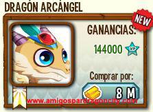 imagen del dragon arcangel en almacen de dragon city