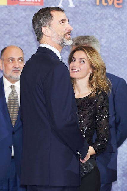 King Felipe and Queen Letizia attend a Tribute Concert for Terrorism Victims at the National Auditorium