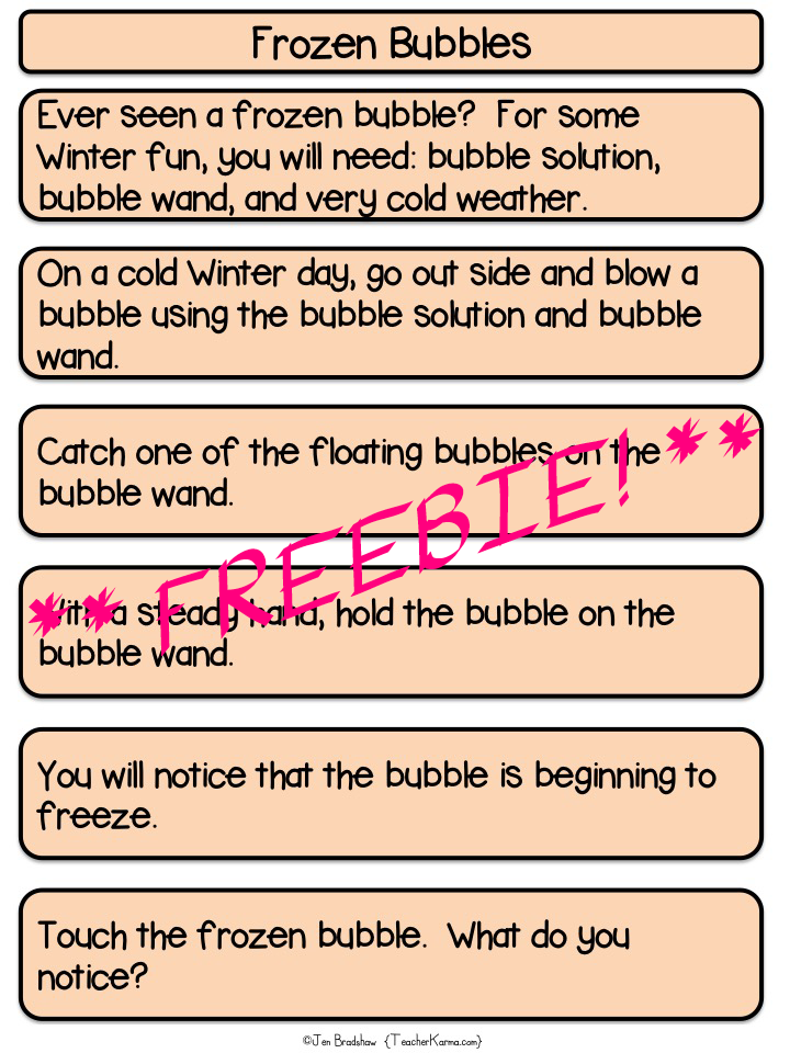 Science Inquiry and Literacy FREEBIE TeacherKarma.com
