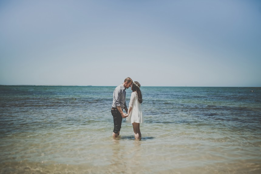 australian beach elopement