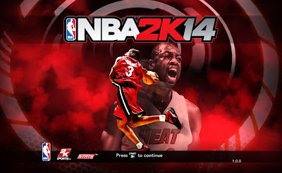 NBA 2K14 Dwyane Wade Title Screen Image Mod