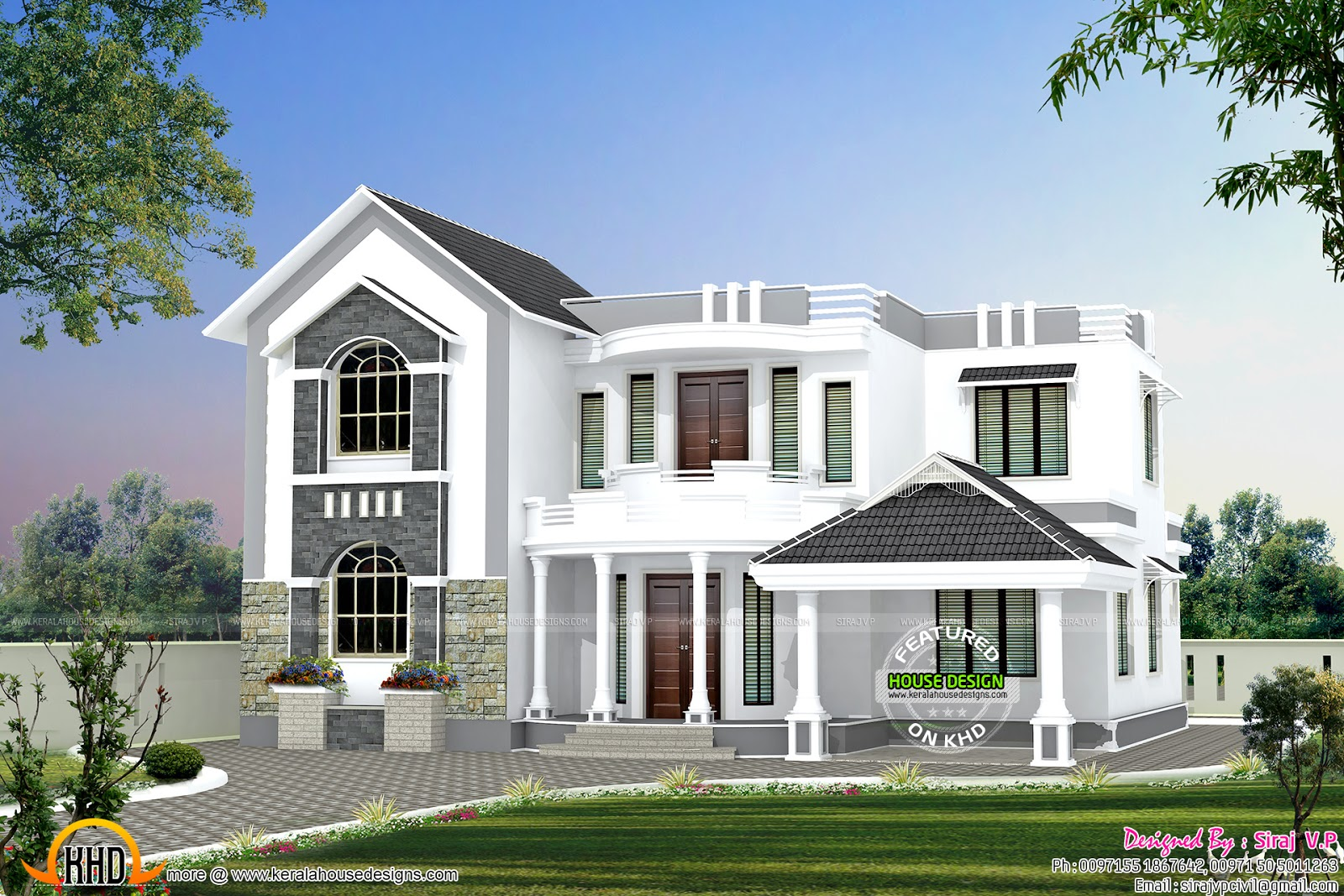 House exterior options kerala home design and floor plans for One floor house exterior design