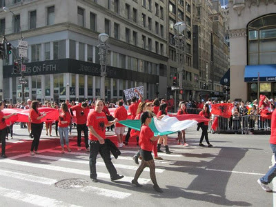 La bandiera italiana in Albanian Parade in New York