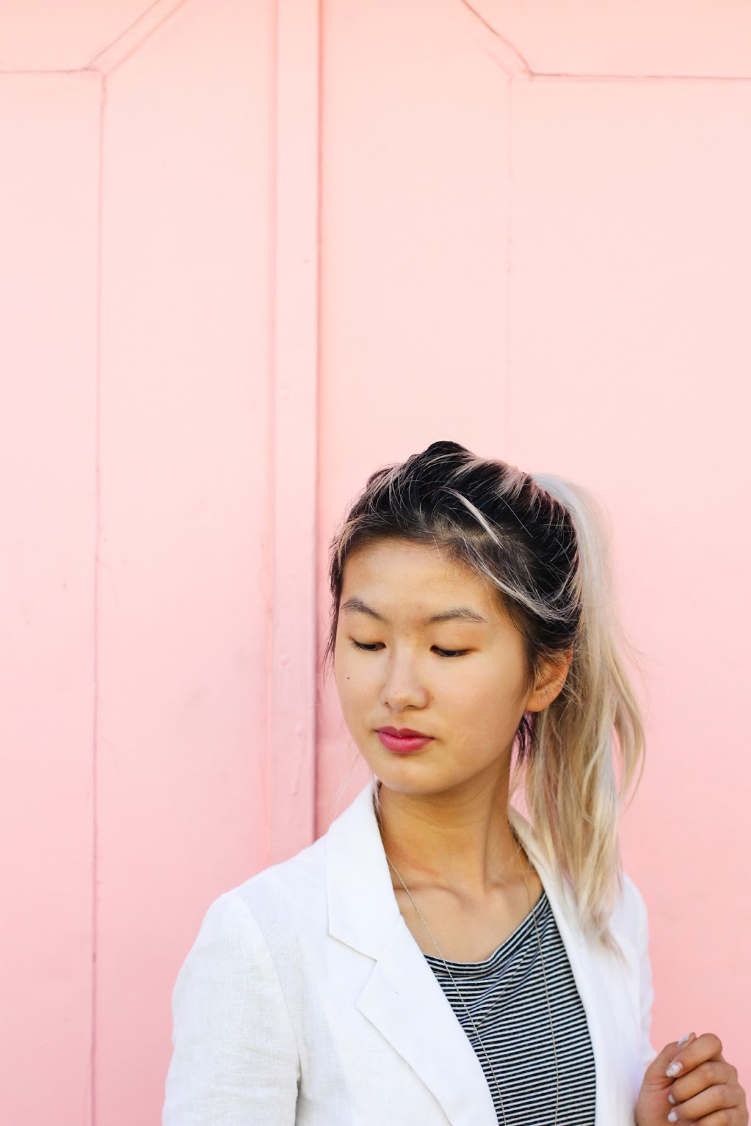Fall lip colors paired with summer whites