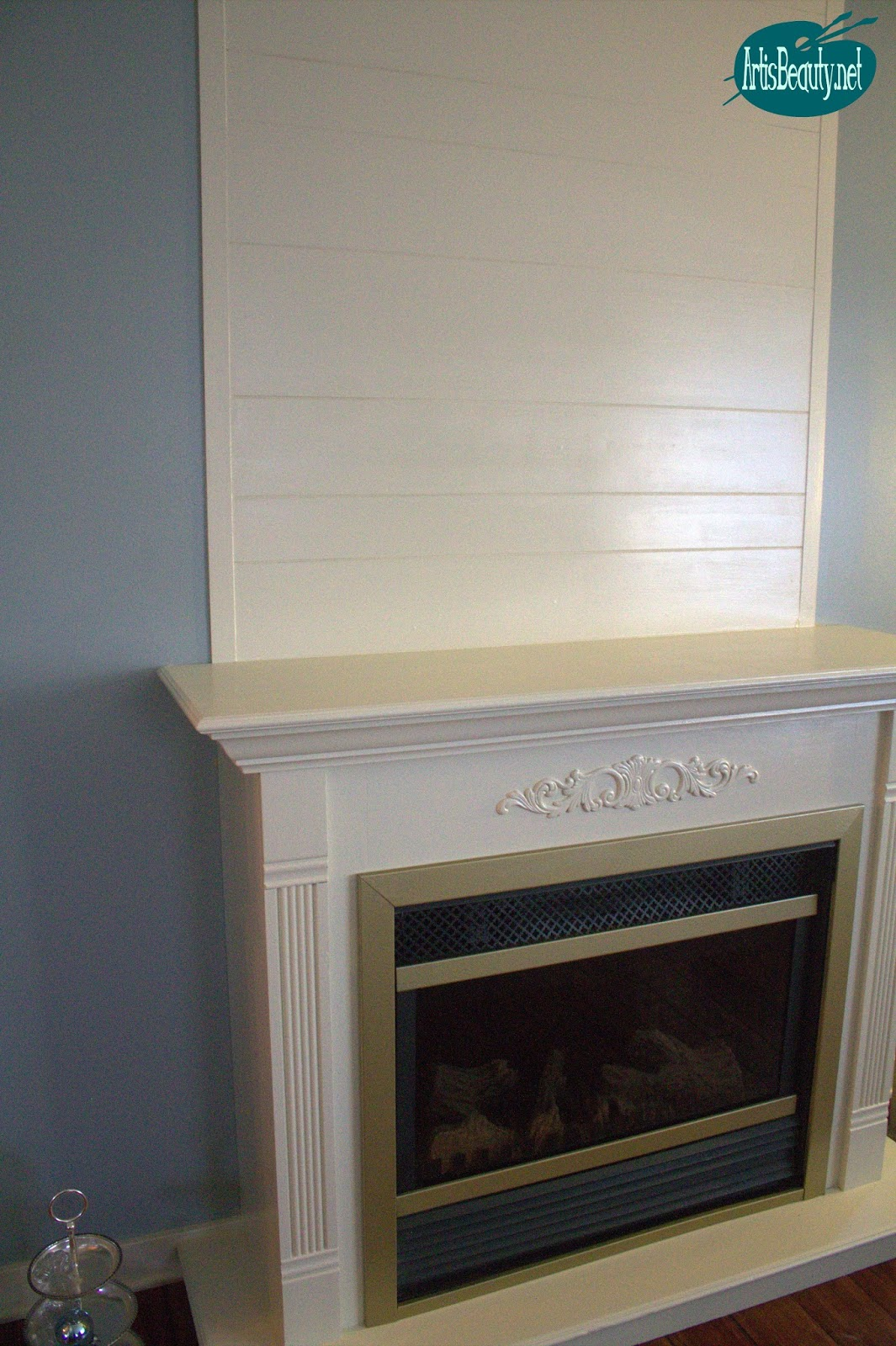 art is beauty cheap and easy faux shiplap fireplace makeover diy for under 30