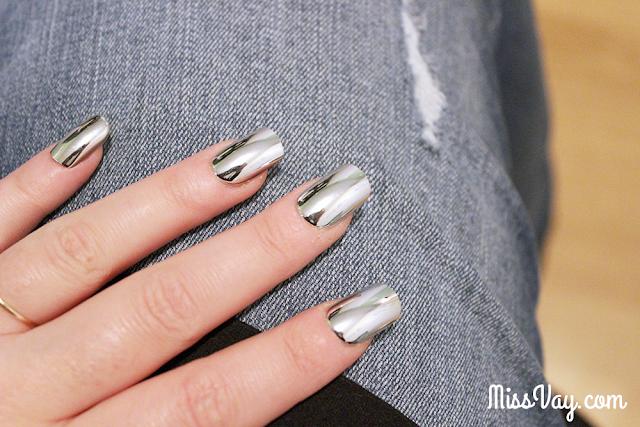 Faux ongles miroir chromé Personnelle Cosmétiques