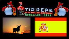 TIO PEPE  BANDERA DE ESPAÑA Y EL TORO DE OSBORNE