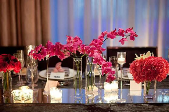 Wedding inspiration modern centerpieces floral