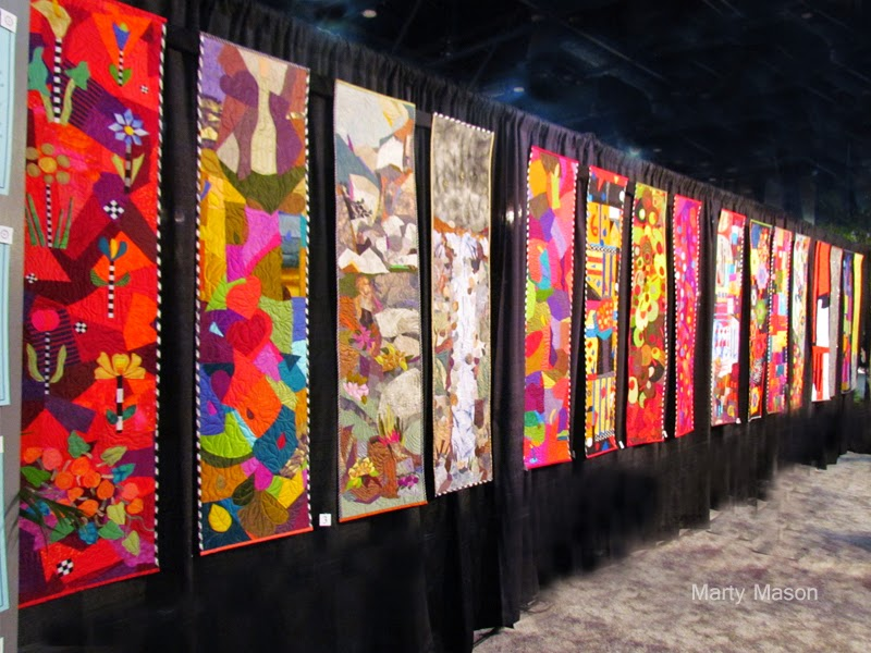 Yvonne Porcella Quilt Display:  Houston Quilt Festival 2014
