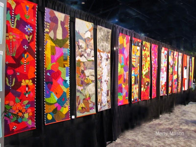 Yvonne Porcella Quilt Display:  Houston Quilt Festival 2014