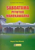 toko buku rahma: buku SABDATAMA PITUTUR MANEKAWARNA, pengarang rama sudi yatmana, penerbit cendrawasih