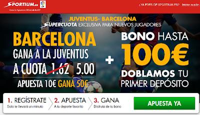 Sportium: Supercuota 5 Juventus – Barcelona #FinalChampions 6 junio