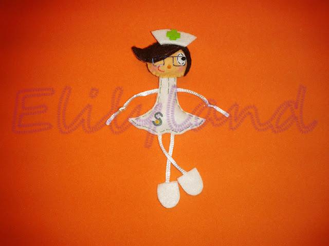 Mini-Elily Enfermera SESCAM Broche Fieltro