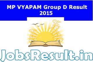 MP VYAPAM Group D Result 2015