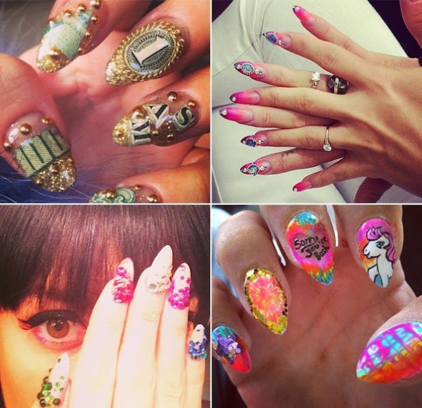 Famous use jewelry to adorn your nails. Approves or disapproves?