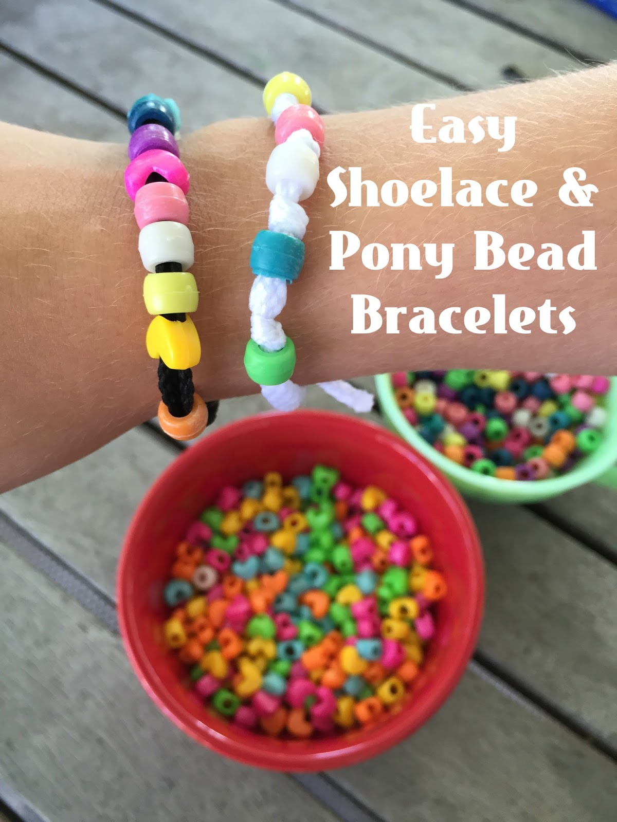 Be brave keep going easy pony bead bracelet for Bead craft for kids
