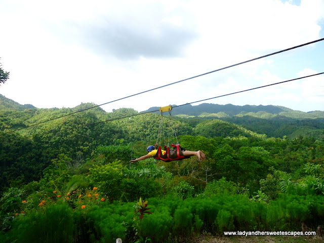 zipline in our Bohol Countryside Tour