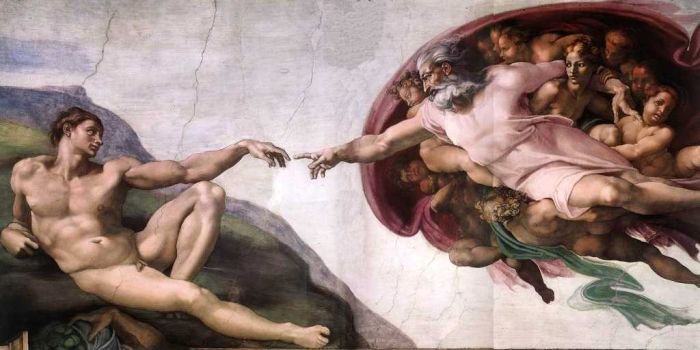 The Creation Of Adam (1511) By Buonarroti Michelangelo