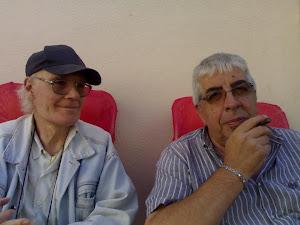 con il pittore mauro focardi in occassione antiquariato in piazza cassini con la partecipazione di