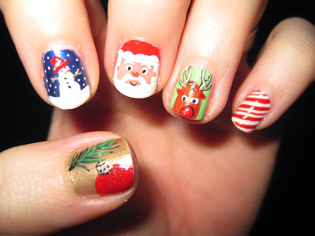 christmas nail design dizzy