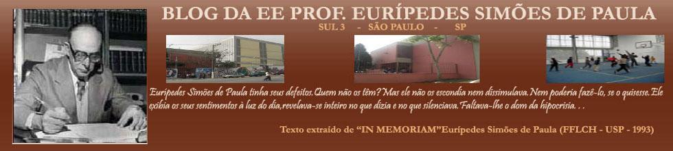 BLOG DA EE PROF. EURÍPEDES SIMÕES DE PAULA - SUL 3  -  SAO PAULO   -   SP