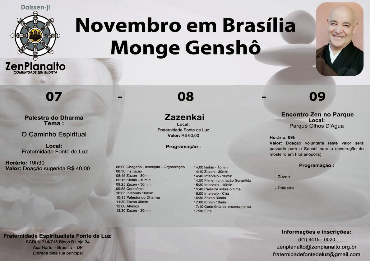 Palestras com Genshō Sensei em Brasília