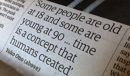 Quote, time, life, Yoko Ono