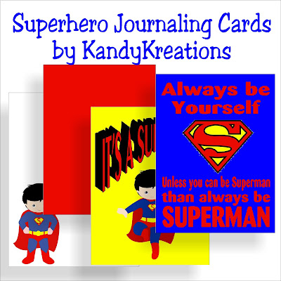 Journal your child's superhero birthday with these cute Superman journaling cards. Find all four cards as free printables or digital cards for your Project Life spreads or Scrapbook layouts.