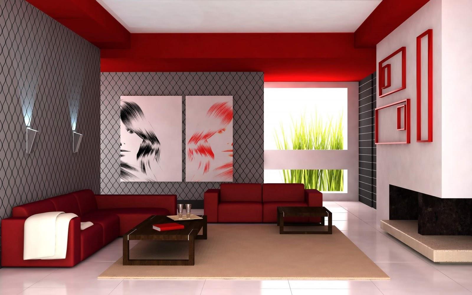 Decoraci n de interiores decoraci n de interiores de - Pinturas modernas para sala ...