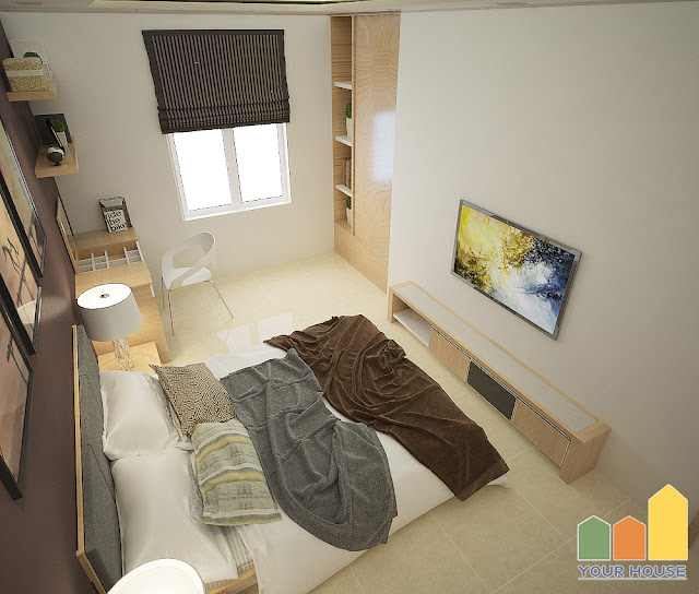 Nội thất phòng ngủ nhẹ nhàng nhưng không kém phần hiện đại 05
