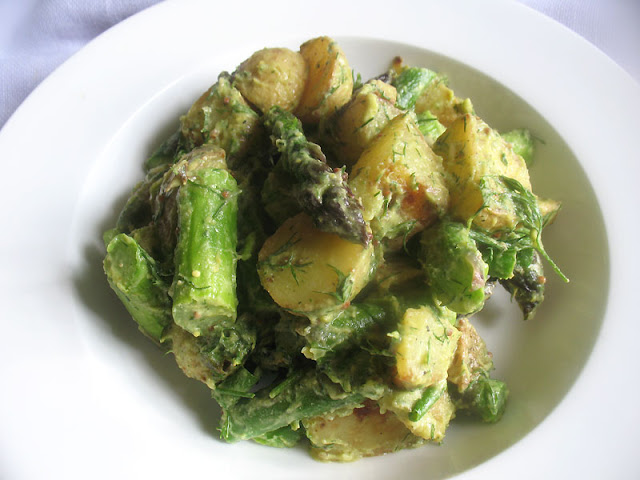 Vegan Potato Salad Dressed with Avocado