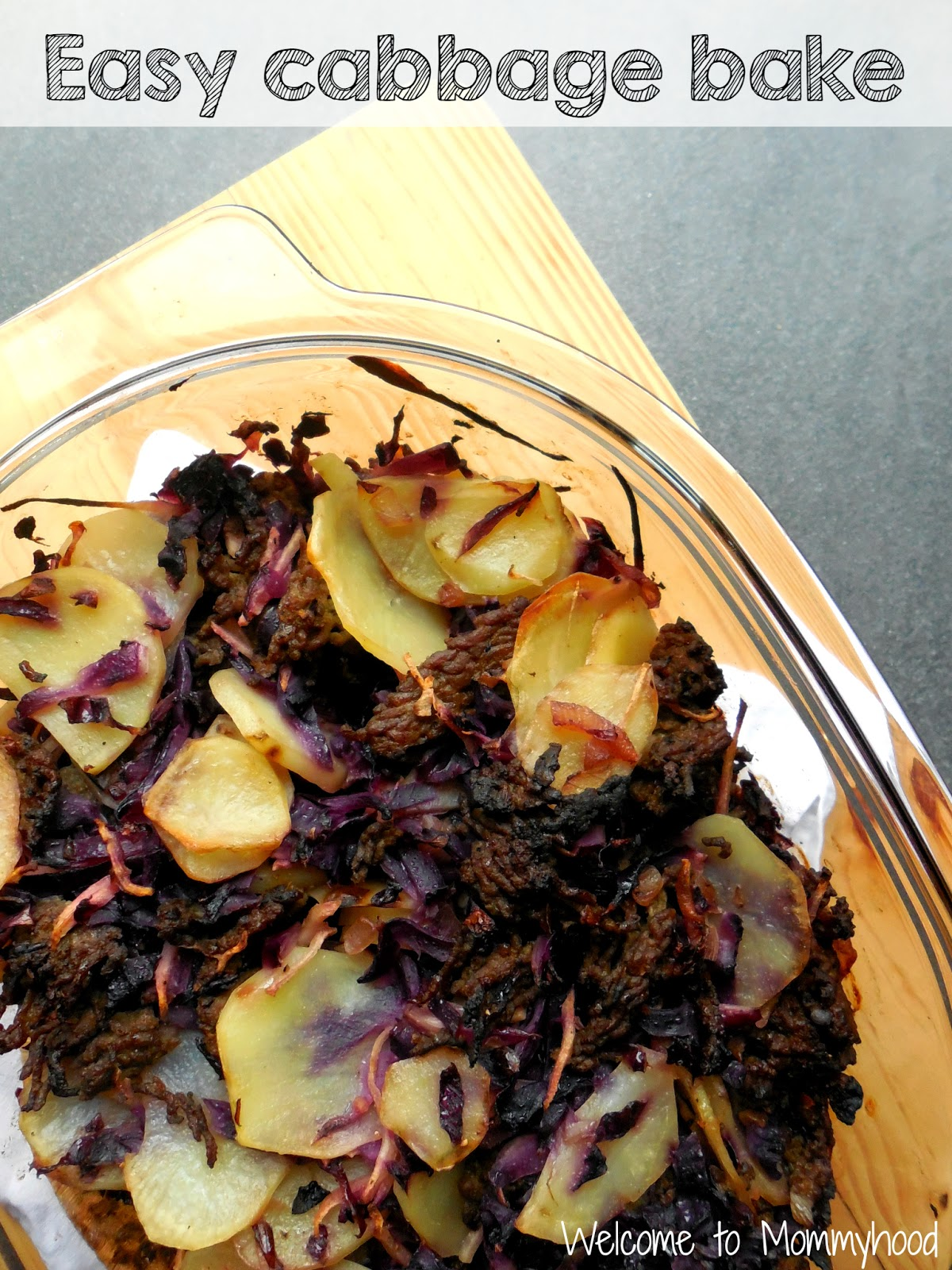 Easy, healthy recipes: cabbage and potato bake #paleo, #easyhealthyrecipes, #toddlermeals