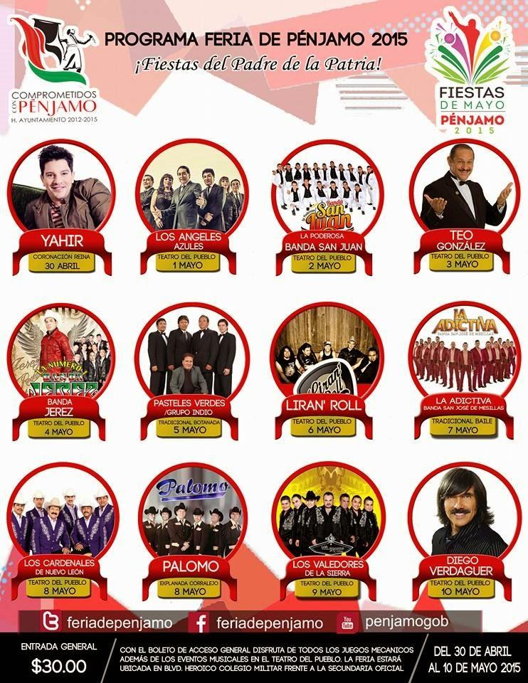 Feria Pénjamo 2015 artistas